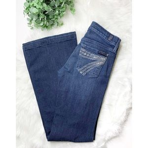 7 FOR ALL MANKIND Altered Flare Leg Dojo Jeans 26